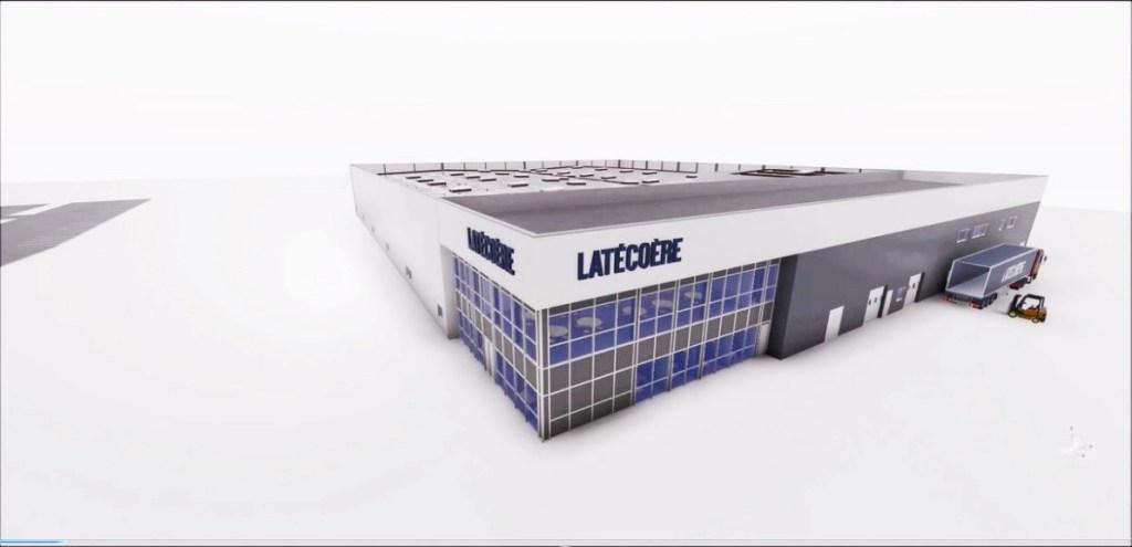 Images de modélisation 3D de la future usine Latécoère (Crédits : Latécoère)