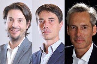 Frédéric Sandei et Antoine Toupin du cabinet OPEO spécialisé en mutations industrielles, et Bruno Faucher, fondateur d'Intuitu Novae, conseil de direction pour les transformations.