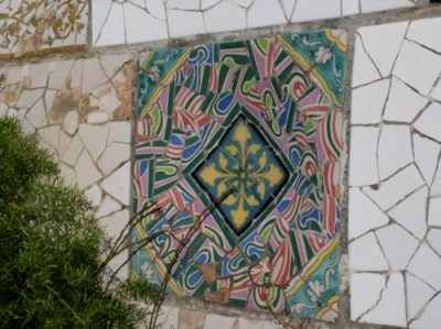 Parc Guell Tile, Reconstituted