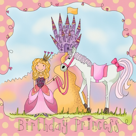 princess and pony illustration