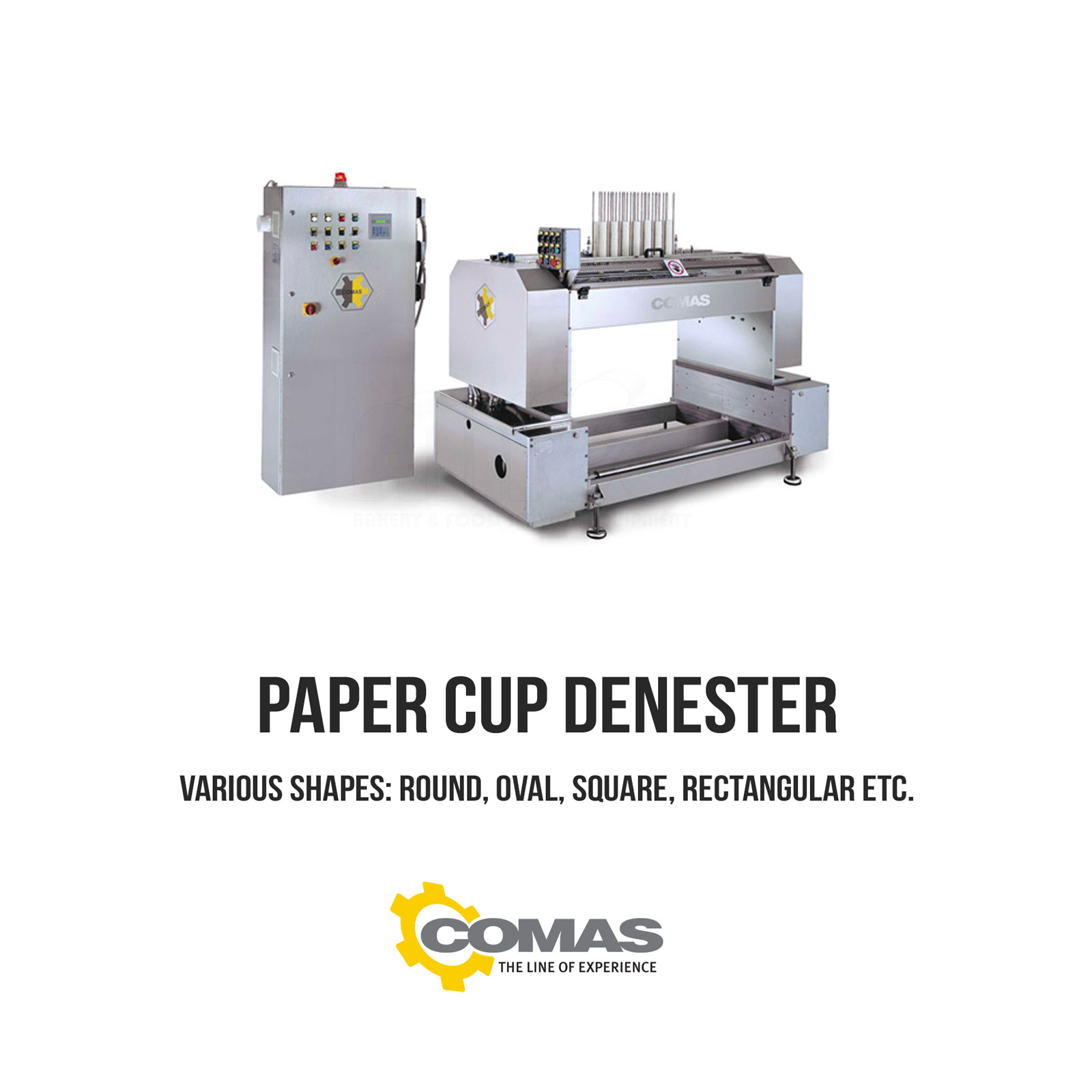Comas – Paper Cup Denester – Allied Bakery Equipment