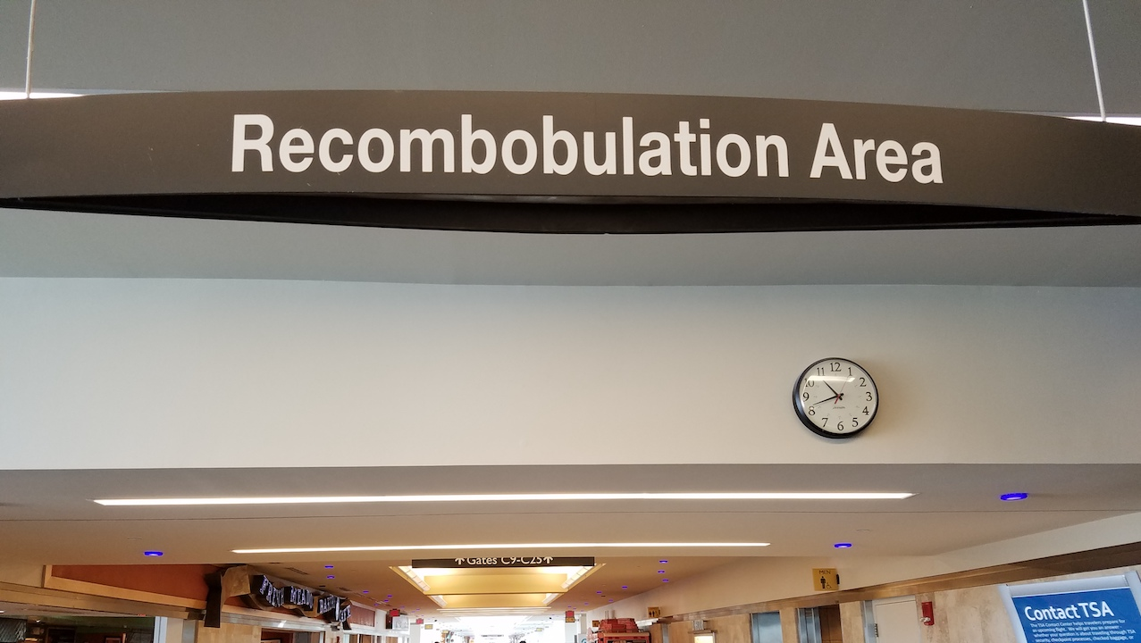 Image result for images for recombobulation area