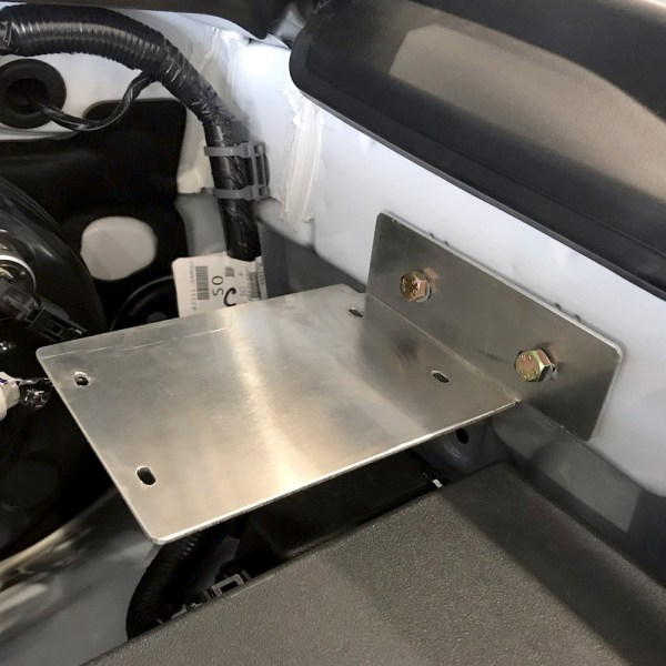 TRIGGER Toyota Tacoma Underhood Controller Bracket Installed