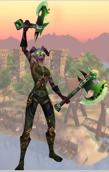 Aleveria: Green with Axes