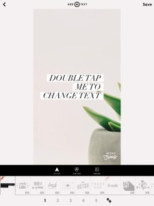 5 apps for gorgeous Pinterest graphics - main screen in WordSwag