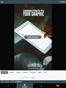 5 apps for gorgeous pinterest graphics - photo adjustments in Typorama