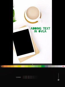 5 apps for gorgeous Pinterest graphics - text outline editing in OVLA