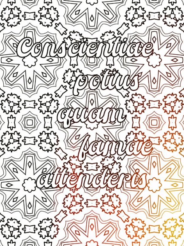 All Latin to Me sample coloring phrase 2