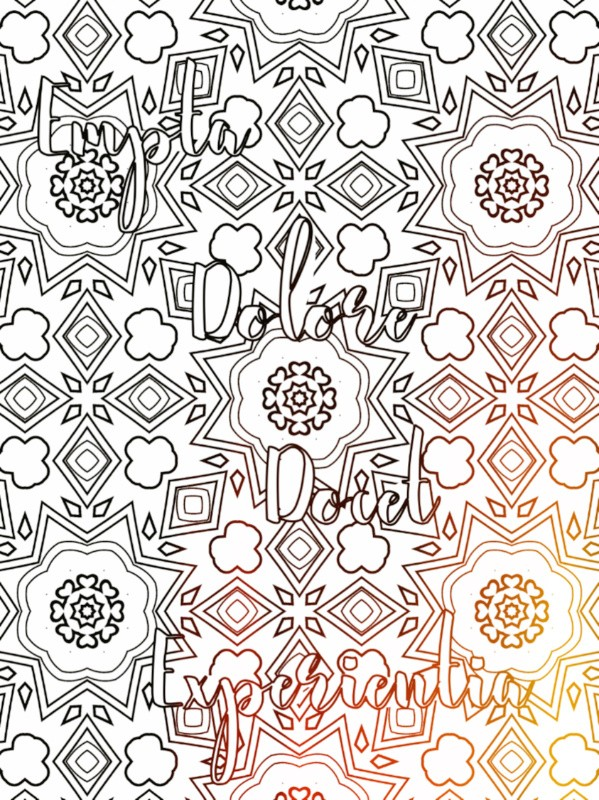 All Latin to Me phrase coloring book sample 3