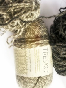 burnout and new projects: sandnes garn tresko yarn