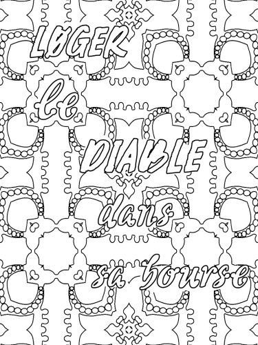 French phrase coloring book L