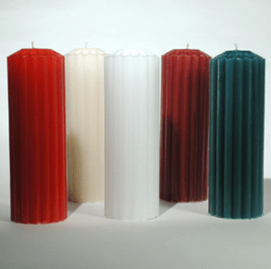 Pillar Fluted Candles