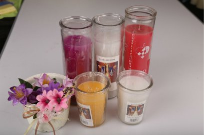 Pillar Glass Candle