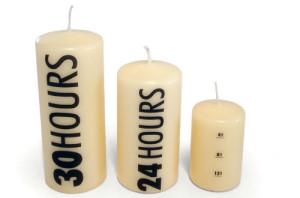 Time Clock Pillar Candles