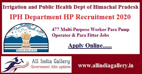 IPH Department HP Recruitment