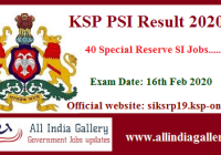 KSRP PSI Result