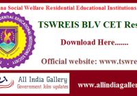 TSWREIS BLV CET Result