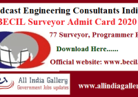 BECIL Surveyor Admit Card 2020