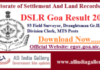 DSLR Goa Result 2020