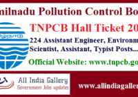 TNPCB AE Hall Ticket 2020