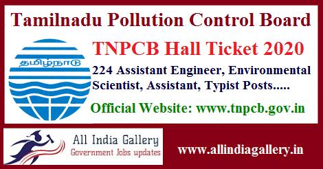 TNPCB AE Hall Ticket 2020