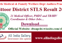 Chittoor District STLS Result 2020