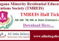 TMREIS Hall Ticket