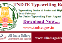 TNDTE Typewriting Result 2020