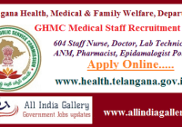 GHMC Staff Nurse ANM Notification 2020