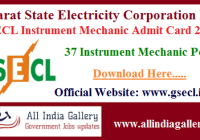 GSECL Instrument Mechanic Admit Card 2020