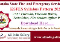KSFES Syllabus Pattern 2020