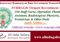 SVRRGGH Tirupati Staff Nurse Recruitment 2020
