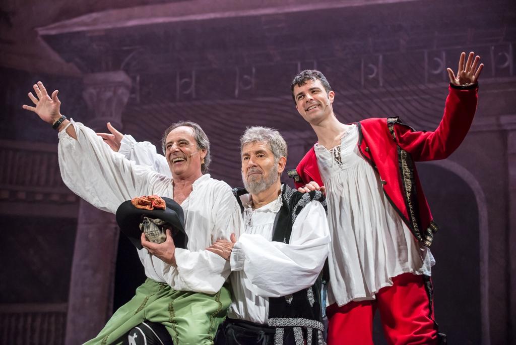 Tutto Shakespeare in 90 minuti - ph Zamolo da sx Formicola_Benvenuti_Gabbrielli