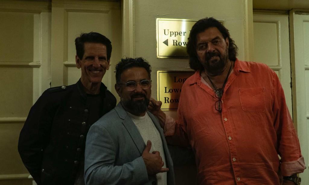 Jonathan Cilia Faro with Alan Parsons e Tom Brooks