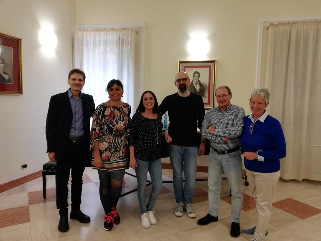 Foto con autori ed esecutori delle 2 operine 2019