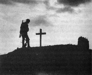 Iconic photo by Ernest Brooks: On 22 August 1917 at Pilkem Ridge near Ypres