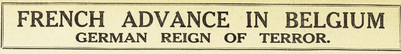 WW I Aug 15 Headline
