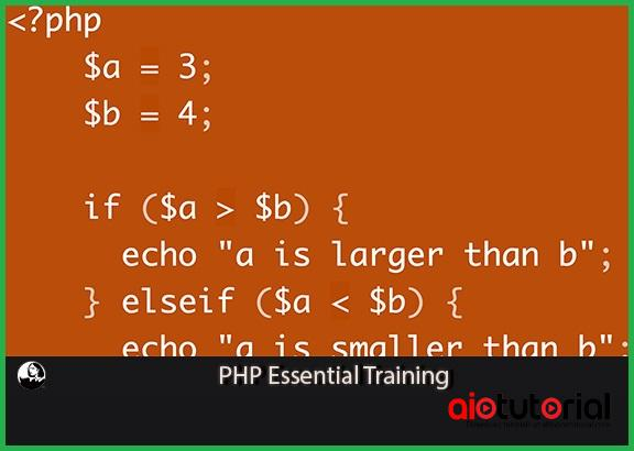 Lynda – PHP Essential Training+Exercise Files (Free Download)