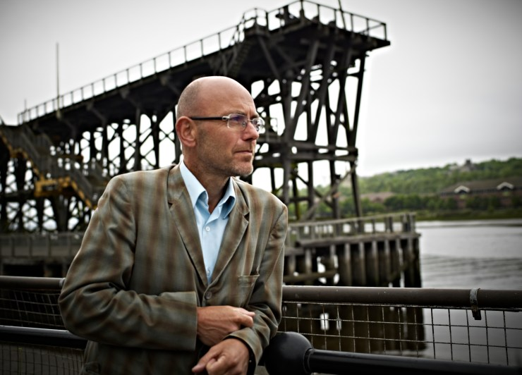 PR photograph of Wayne Hemingway at Dunston Staiths Gateshead