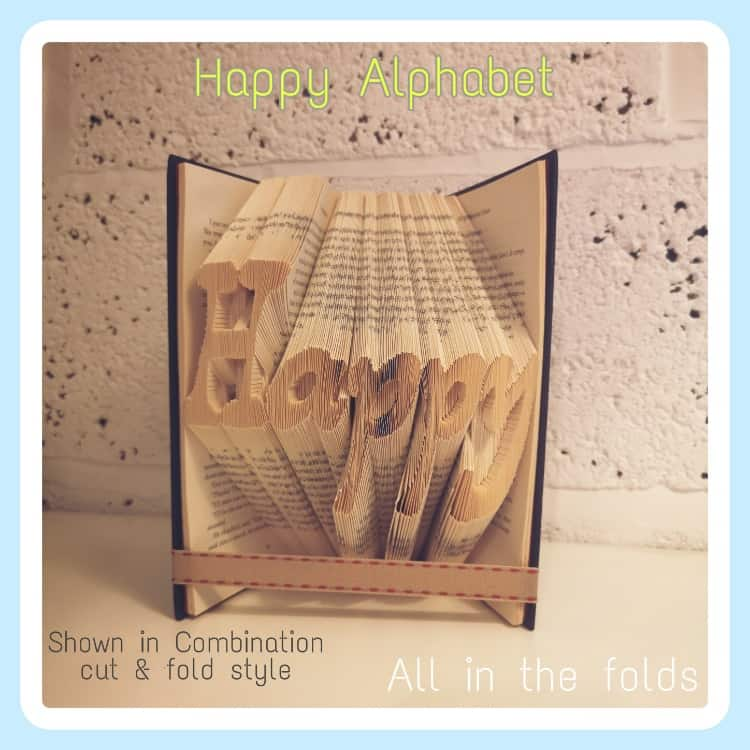 Combination cut and fold style Personalized folded book art