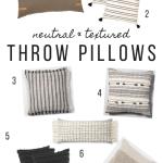 7 Neutral Throw Pillows For The Modern Home Allisa Jacobs