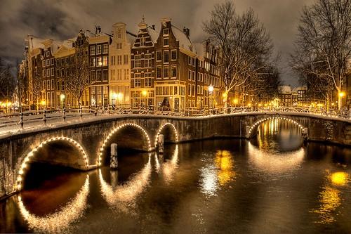 Winter's Night, Amsterdam, The Netherlands