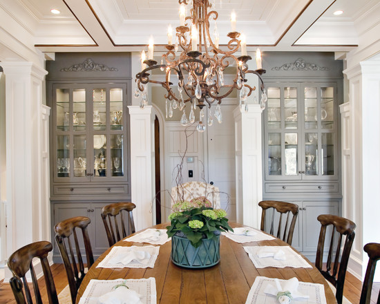 Elegant (With Custom China Cabinets Traditional Dining Room Charleston)