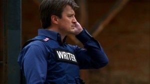 "Rick Castle in ""Writer"" bulletproof vest."