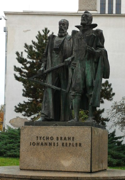 Statue of Brahe and Kepler