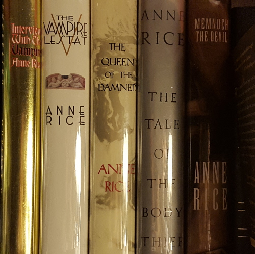 Anne Rice shelfie