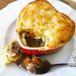 South African Chicken Pie heart