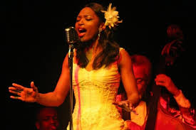 Titilayo Adedokun singing heart out