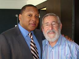 Don Albert with Wynton Marsalis.