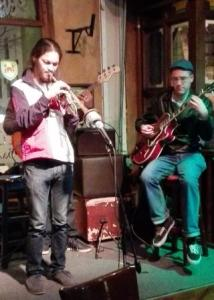 Darren English, trumpet & John Russell, guitar